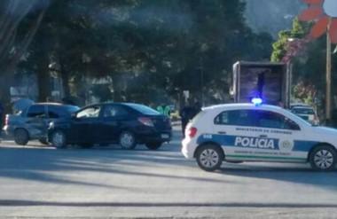 Sucedió en la mañana de ayer en la intersección de las avenidas MarceloT. de  Alvear y Coronel Fontana.