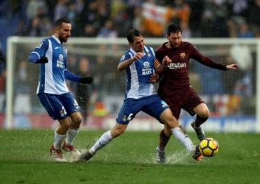 Messi aportó una asistencia en el empate de Barcelona frente a Espanyol.