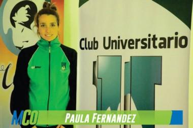 La deportista Paula Fernández jugará la Liga Argentina de Voley para el club Universitario de Caleta Olivia.