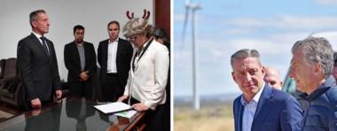 La jura de Arcioni el 1 de noviembre, en un momento difícil. Gesto. El presidente hizo el primer acto oficial de 2018 en Chubut.