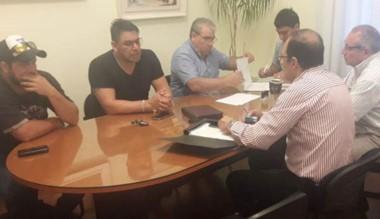 Marcial Paz e Ignacio Hernández encabezaron la reunión.