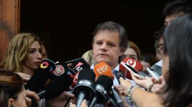 El periodista deportivo habló de la controversial muerte de su pareja en la Legislatura porteña, donde se llevó a cabo el velatorio.