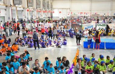 Gran cierre. El Predio Ferial se colmó con más de 5 mil participantes de las colonias de verano.