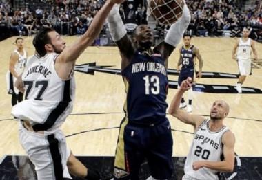 Pese al buen partido de Ginóbili, fue derrota de los Spurs.