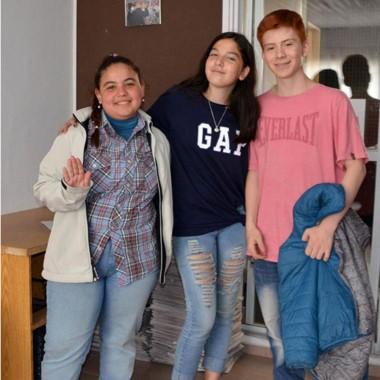 Los tres alumnos que llevan adelante una destacada actividad social.