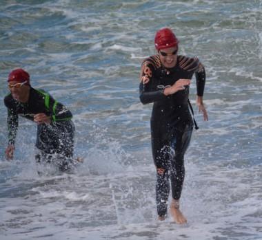 Garzonio y Arrative salieron del agua uno detrás del otro. Tuvieron que correr para asegurar su lugar.