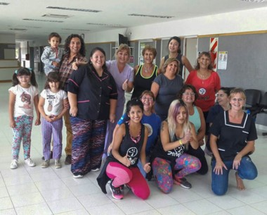 Sonrisas. El grupo que cerró con gimnasia la Semana de la Mujer en la ciudad sureña.