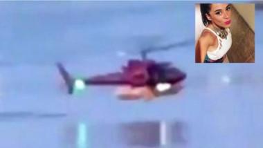 Captura del momento de la caída del helicóptero al agua. Murieron cinco personas entre ellas, una argentina. (La Voz)