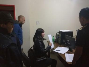 Souza, en el momento de la detención.