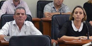 Los concejales del bloque durante su intervención, hablaron de los problemas de la mencionada escuela.