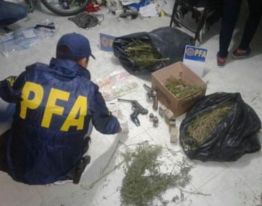 Operativo. L a Policía anti droga incautó gran cantidad de plantas en el procedimiento del barrio Pujol.