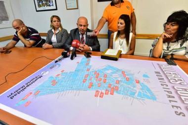 Mapa. El intendente Sastre presentó la oferta municipal, que es gratis y abarca a varios barrios de Madryn.