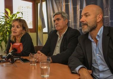 Trío. Pereira (izquierda) Miquelarena y Rodríguez denunciaron mensajes intimidatorios hacia el interior de la Unidad Anticorrupción.