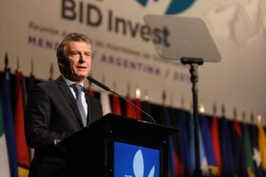 Macri en la Asamblea del BID: Esta es una fecha para unirnos y decir nunca más.