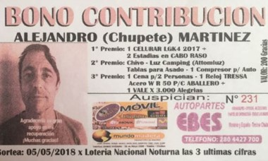 Alejandro Martínez recurrió a una rifa para pagarse una prótesis.