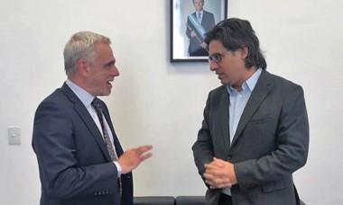 Dúo. Vivas y Garavano acordaron colaboración para la provincia.