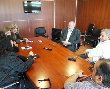 Los diputados del FpV recibieron al presidente del Banco del Chubut.
