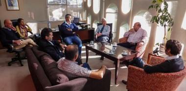 El encuentro mantenido en el día de ayer entre el titular de SEROS y los prestadores médicos.