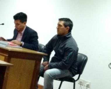 A juicio. Luis ángel Carmona en el banquillo de los acusados.