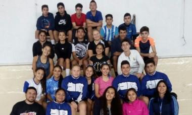 Los chicos categoría Cadetes de la Preselección de handball.