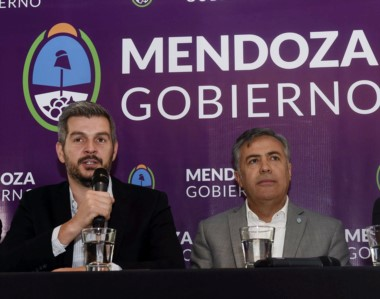 Marcos Peña encabezó un desayuno en la Corporación Vitivínicola Argentina, en el marco de la Vendimia 2018.