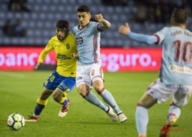 En el cierre de la jornada 27, Celta de Vigo en Balaídos venció 2-1 a Las Palmas.