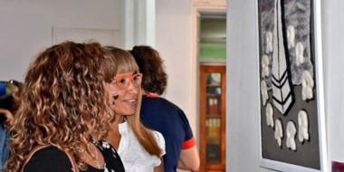 """Como parte de las actividades, el lunes se inauguró la muestra denominada """"Fieltro de Mujer"""" en Trelew."""