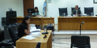 Marche presa. La jueza Mónica García ordenó un mes de prisión preventiva contra Micaela Ortellado.