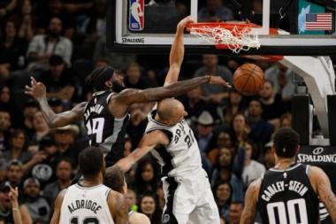 Un encendido Manu Ginóbili comandó, con 17 puntos, el triunfazo de los Spurs 98-85 ante los Kings.