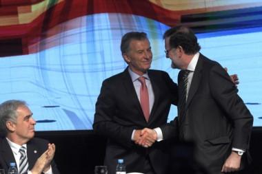 """Rajoy con Macri: """"No vamos a reconocer a Maduro como un presidente democrático""""."""