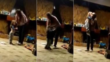 Una mujer fue filmada por la niñera cuando golpeaba ferozmente a su hijo.