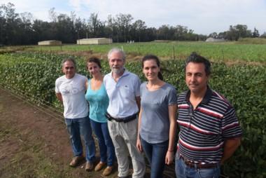 Alvaro Quijano (D), Julieta Bianchi (2D), Eligio Morandi (C), Nidia Montechiarini (2I) y Carlos Gosparini (I), integrantes del equipo…