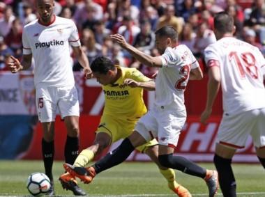 Sevilla levantó un 0-2 como local y terminó igualando en dos con Villarreal.