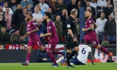 El City venció a Tottenham y quedó a un paso de ser campeón de la Premier.