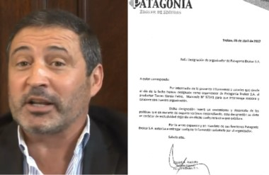 """Bróker. La nota de Asciutto que confirma la designación de Torres García (izquierda) como """"organizador""""."""