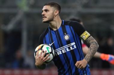 Mauro Icardi anotó el segundo gol en el triunfo de Inter ante Cagliari.