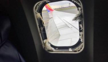 Esta es la ventana donde fue aspirada la pasajera que luego falleció.