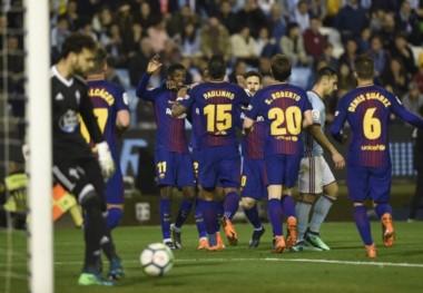 Barcelona consigue preservar el invicto a falta de cinco jornadas en La Liga.