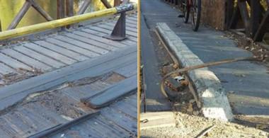 Los daños en el puente no son nuevos y además, aseguran que los arreglos resultan precarios.