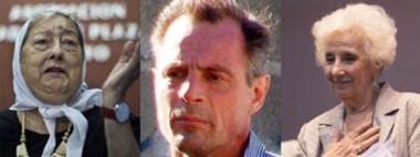 Trío. Bonafini (izquierda) Roo y Carlotto, protagonistas de una polémica que parecía resuelta pero sigue.