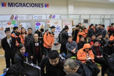 Los científicos chinos realizaron trámites en migraciones de Punta Arenas