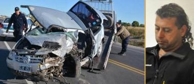 Tragedia. Así quedó el vehículo que manejaba la enfermera, que murió tras el tremendo impacto.  López, el hombre imputado.