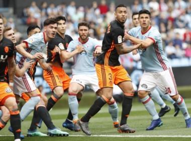 Celta-Valencia igualaron 1-1 en Balaídos.  Otro de Maxi Gómez. El delantero uruguayo marcó su 14° gol en esta primera temporada en Europa.