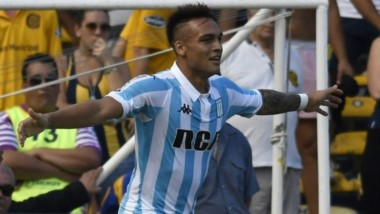 Lautaro Martínez anotó golazo con Racing ante Rosario Central por la Superliga.