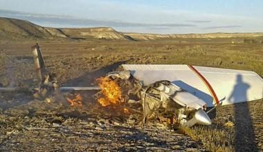 """La avioneta cayó en cercanías de la estancia """"La Adela"""". Aún no se saben las causas del fatal accidente."""