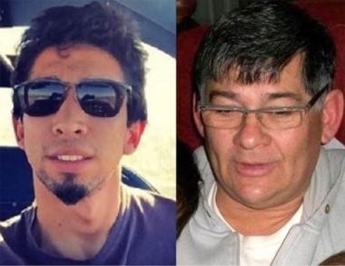 El piloto Lenard Ibáñez (izquierda) y Ricardo Artiles. Están muy graves.