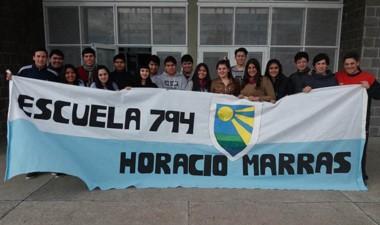 Egresados promoción 2017 de la Escuela Nº 794 de Gaiman.