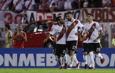Primera victoria de River en el Monumental por la Copa Libertadores 2018.