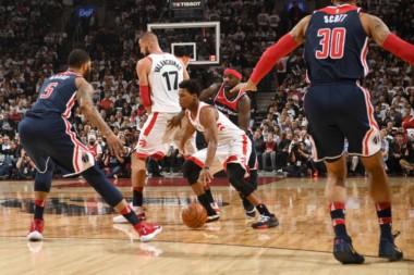 Los Raptors pisaron fuerte en la capital:  derrotaron 102-92 a Washington Wizards y finiquitaron la serie (4-2).