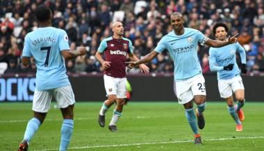 Manchester City no tiene quien lo pare en la Premier League y lo ratificó al golear 4-1 al West Ham como visitantes.